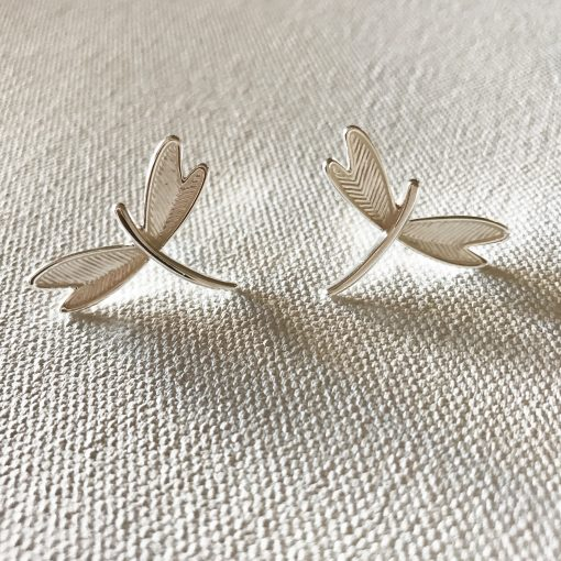 petite dragonfly earrings