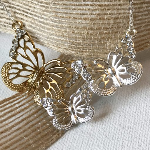 triple butterfly necklace