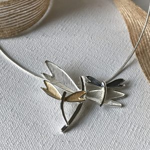 Triple Dragonfly Necklace (large)
