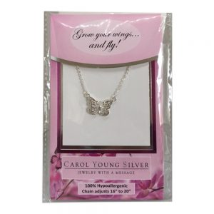 Petite butterfly Necklace on Card