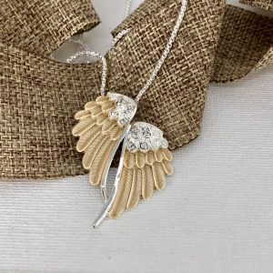 Wing Necklace -Two Toned