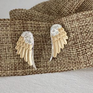 Wing Post Earrings – Two-Toned