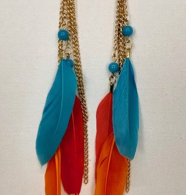 CYS cArol Young Silver - Feathered Earrings
