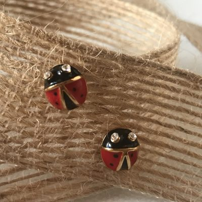 Ladybug Post Earrings Carol Young Silver