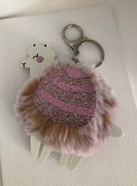 Carol Young Alpaca Key Ring Tan