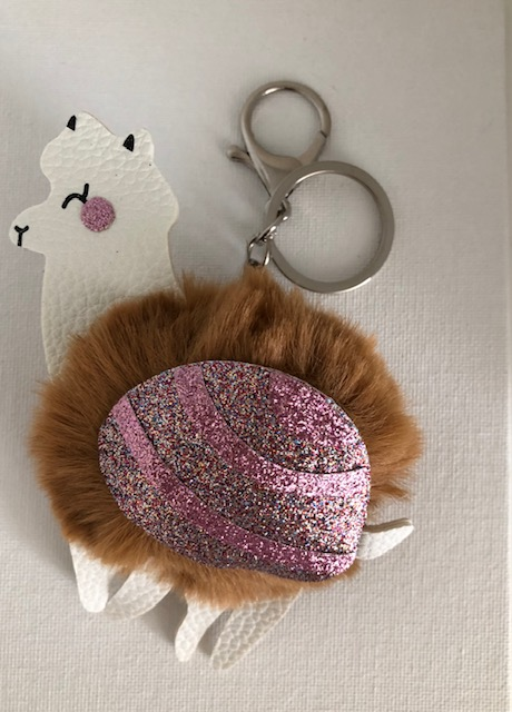 Carol Young Alpaca Key Ring Brown