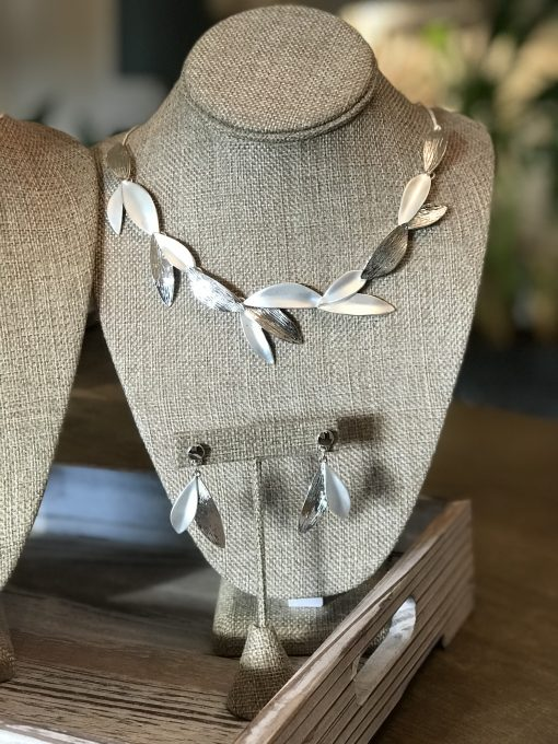 Grecian Leaves Necklace & Earring Set