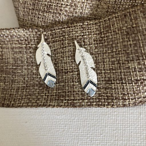 Carol Young Silver Eagle Feather Post Earrings