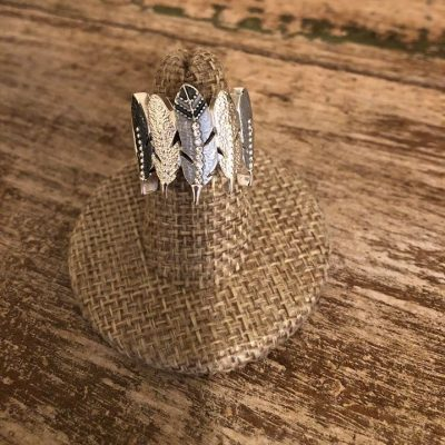 Eagle Feather Ring Carol Young Silver