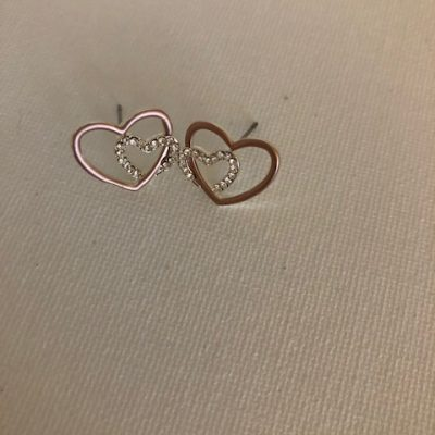 Two Hearts Earrings- Carol Young Silver
