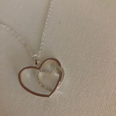 Two Hearts Necklace - Carol Young Silver
