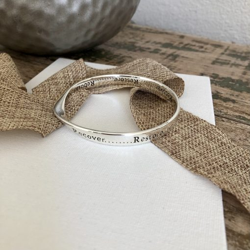 Recover, Rebuild & Restore Necklace and Bangle by Carol Young